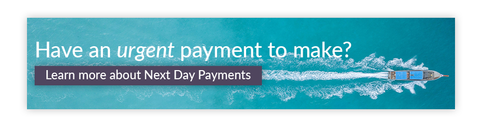 Have an urgent payment to make? Learn more about Next Day payments