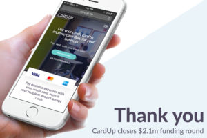 CardUp closes $2.1m funding round