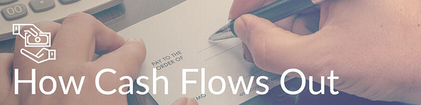 How cash flows out