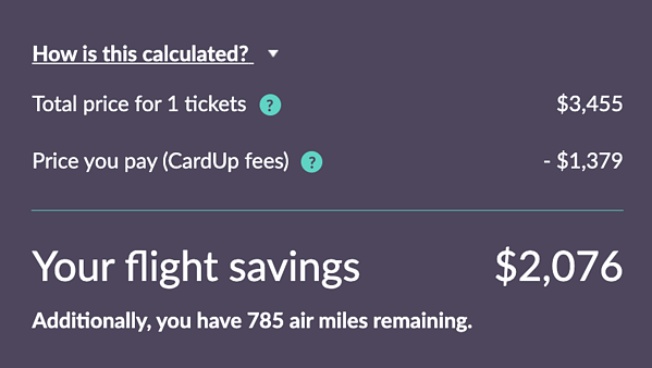 Here's how much you can save on your flights with CardUp