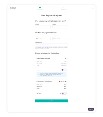 Create a payment request to collect payments via PayNow