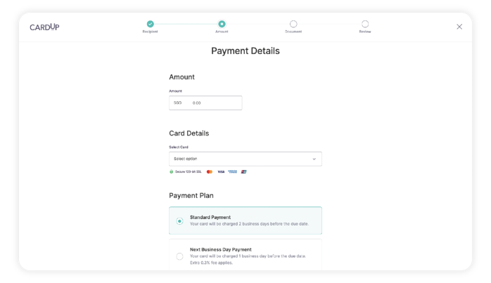 Set up your payment